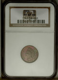 1900 1C PR67 Red and Brown NGC. Violet and light brown are the main colors of the obverse, while the reverse has carrot-...