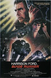 "Blade Runner (Warner Brothers, 1982). One Sheet (27"" X 41""). Science Fiction. Starring Harrison Ford, Rutger H..."