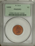 1899 1C PR65 Red PCGS. The vibrant reddish-orange surfaces of this Gem have striking magenta accents. Crisply struck wit...
