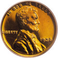 Proof Lincoln Cents: , 1936 1C Type Two--Brilliant Finish PR65 Red PCGS. This is agorgeous Gem proof example with deep orange color on both sides...
