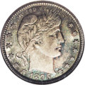 Barber Quarters: , 1895-O 25C MS67 NGC. A gorgeous and deeply toned example of thisdate. The surfaces are stunning, with deep blue and gray d...