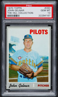 Baseball Cards:Singles (1970-Now), 1970 Topps John Gelnar #393 PSA Gem Mint 10 - Pop One....