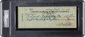 Baseball Collectibles:Others, 1936 Babe Ruth Signed Check for World Series Tickets (PoloGrounds)....