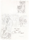 Original Comic Art:Miscellaneous, Brian Bolland Batman: The Killing Joke Page 36 PreliminaryPencil Sketch Original Art Signed by Alan Moore (DC, 19...