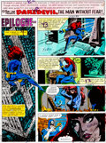 Original Comic Art:Miscellaneous, Daredevil #160 Page 1 Hand-Painted Color Guide (Marvel,1979)....