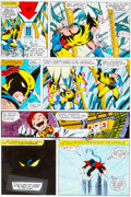 Original Comic Art:Miscellaneous, X-Men #123 Page 19 Hand-Painted Color Guide (Marvel,1979)....