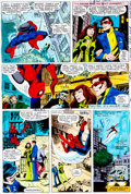 Original Comic Art:Miscellaneous, X-Men #123 Page 2 Hand-Painted Color Guide (Marvel,1979)....