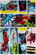Original Comic Art:Miscellaneous, Daredevil #160 Page 15 Hand-Painted Color Guide (Marvel,1979)....
