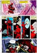 Original Comic Art:Miscellaneous, Daredevil #160 Page 16 Hand-Painted Color Guide (Marvel,1979)....