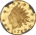 California Fractional Gold , 1875 25C Indian Round 25 Cents, BG-847, R.4, MS66 NGC....