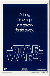 "Star Wars (20th Century Fox, 1977). One Sheet (27"" X 41"") Style B Teaser. Science Fiction"
