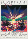 "Movie Posters:Rock and Roll, Supertramp: Paris (A&M Records, 1980). Concert Poster (25.5"" X40""). Rock and Roll.. ..."