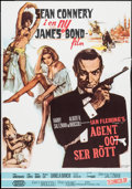 """Movie Posters:James Bond, From Russia with Love (United Artists, R-1979). Swedish One Sheet(27.25"""" X 39""""). James Bond.. ..."""