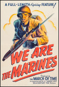 """Movie Posters:War, We Are the Marines (20th Century Fox, 1942). One Sheet (27.5"""" X41""""). War.. ..."""