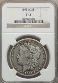 Morgan Dollars: , 1893-CC $1 Fine 12 NGC. NGC Census: (168/3061). PCGS Population (289/5680). Mintage: 677,000. Numismedia Wsl. Price for pro...