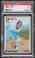 Baseball Cards:Singles (1970-Now), 1970 Topps Diego Segui #2 PSA Mint 9....