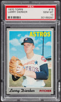 Baseball Cards:Singles (1970-Now), 1970 Topps Larry Dierker #15 PSA Gem Mint 10 - Pop Two....
