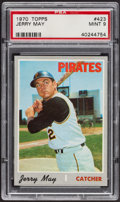 Baseball Cards:Singles (1970-Now), 1970 Topps Jerry May #423 PSA Mint 9....