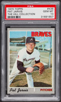 Baseball Cards:Singles (1970-Now), 1970 Topps Pat Jarvis #438 PSA Gem Mint 10 - Pop Two....