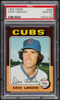 Baseball Cards:Singles (1970-Now), 1975 Topps Dave LaRoche #258 PSA Gem Mint 10 - Pop Three....