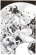 Original Comic Art:Covers, Clay Mann Harley Quinn #1 Second Printing Original Cover Art (DC, 2014)....
