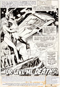 Original Comic Art:Splash Pages, Keith Pollard and Rick Hoberg Green Lantern #162 Splash Page 1 Original Art (DC, 1983)....