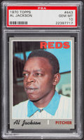 Baseball Cards:Singles (1970-Now), 1970 Topps Al Jackson #443 PSA Gem Mint 10 - Pop Three....