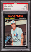 Baseball Cards:Singles (1970-Now), 1971 Topps Gene Mauch #59 PSA Mint 9....