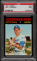 Baseball Cards:Singles (1970-Now), 1971 Topps Jeff Torborg #314 PSA Mint 9 - Pop Three, NoneHigher....