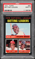 Baseball Cards:Singles (1970-Now), 1971 Topps NL Batting Leaders #62 PSA Mint 9....