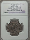 1787 COPPER Vermont Copper, BRITANNIA Brown -- Improperly Cleaned -- NGC Details. VF. NGC Census: (0/0). PCGS Population...