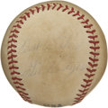 Autographs:Baseballs, Gil Hodges Single Signed Baseball. Having played in three All-Stargames, Gil Hodges is best know as the manager of the 196...
