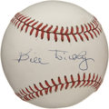 Autographs:Baseballs, Bill Dickey Single Signed Baseball. Legendary catcher for the NewYork Yankees, the Hall of Famer played his entire career ...