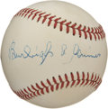 Autographs:Baseballs, Burleigh Grimes Single Signed Baseball. Elected to the BaseballHall of Fame in 1964, Burliegh Grimes was famous for his t...