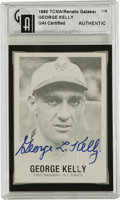 """Autographs:Letters, George L. Kelly Signed Photograph and Card. In 1922 George """" HighPockets"""" Kelly got the nickname because he was tall, unus..."""