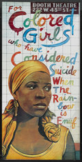"Movie Posters:Black Films, For Colored Girls Who Have Considered Suicide When the Rainbow isEnuf (Booth Theatre, 1975). Theatre Poster (23"" X 45""). Bl..."