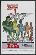 "Movie Posters:James Bond, Dr. No (United Artists, R-1980). One Sheet (27"" X 41""). James Bond...."
