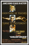 "Movie Posters:James Bond, Goldfinger (United Artists, 1964). One Sheet (27"" X 41""). James Bond. ..."