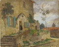 Fine Art - Painting, American:Modern  (1900 1949)  , EMMA LAMBERT COOPER (American 1860-1920). Abby Entrance,France. Oil on canvas board. 8 x 10 inches (20.3 x 25.4 cm).Si...