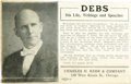 Political:Small Paper (1896-present), Eugene V. Debs: A Scarce 1908-Dated Postcard Advertising a Campaign Biography....