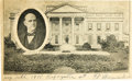 Political:Small Paper (1896-present), Eugene V. Debs: An Extremely Rare Postcard Variety Picturing Him Superimposed over the White House....