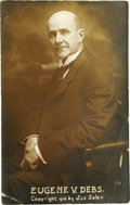 Political:Small Paper (1896-present), Eugene V. Debs: A 1910-Dated Real Photo Postcard. ...