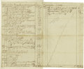 """Autographs:U.S. Presidents, Physician's Statement of Account with George Washington, Autograph Document Signed """"John Knowles,, three pages, 8"""" x 12.... (Total: 1 Item)"""