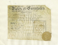 John Witherspoon and Richard Stockton Document Signed
