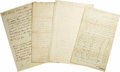 "Military & Patriotic:Revolutionary War, Four 18th Century American Military Manuscript Documents, asfollows:. ALS, ""Willi. Atlee"", two pages, 8"" x 13.25"",Lanc... (Total: 4 Items)"