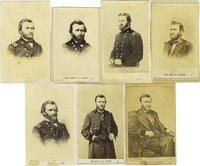 Seven Uniformed Ulysses S. Grant Cartes de Visite. Grant's rise as a Union general is well documented in this gr