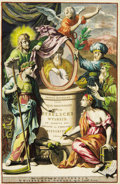 Books:Non-American Editions, Engraved Allegorical Title Page From Wilhelmus Goeree's 1690Biblical History, Joodse Oudheden of Voor-BereidselenBybel...
