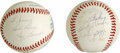 Autographs:Baseballs, Wade Boggs and Yogi Berra Single Signed Baseballs Lot of 2. Each ofthe Hall of Fame singles we provide here have been pers...
