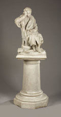Marble:European, Christopher Columbus (Cristóbal Colón). . U.Matteoni, Italian. Late 19th Century. Marble. Signed on base: U.Mat...