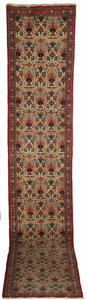 Rugs & Textiles:Carpets, A Persian Runner. Unknown maker, Veramin, Iran. 20th century. Wool.Marks: none . 2.9 feet wide x 16.2 feet long. ...